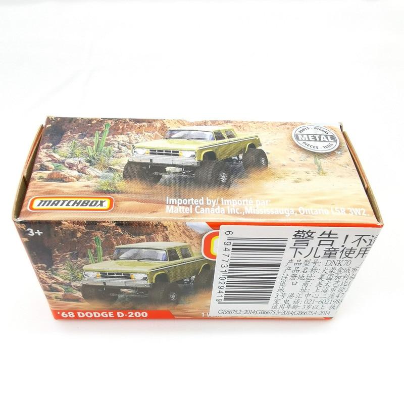 2019 Matchbox Cars 1:64 Car 68 DODGE D-200  Metal Diecast Alloy Model Car Toy Vehicles