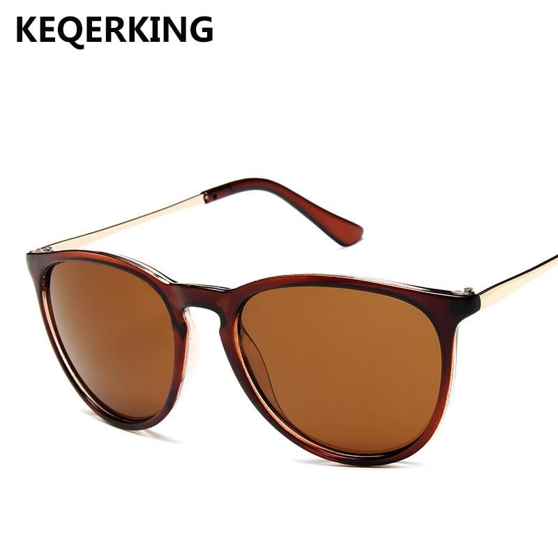 KEQERING brand design oversized sunglasses women's trend round glasses fashion wild UV400 Женские солнцезащитные очки