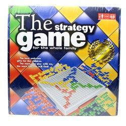 O jogo de estratégia blokus jogo de tabuleiro brinquedos educativos 484 quadrados jogo fácil de jogar para crianças caixa russa série games2 indoor