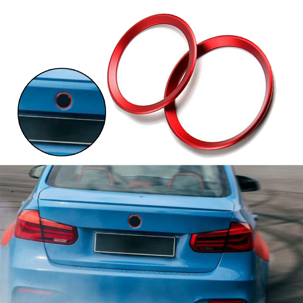 Red Front Rear Logo Surrounding Ring Fits For BMW 3 / 4 Series For BMW M3 M4 E36 E46 E90 E92 F30 F31 image