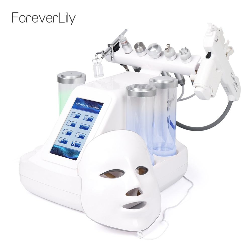 8 In 1 Vacuum Face Cleaning Hydro Water Oxygen Jet Peel Machine Ance  Pore Cleaner Facial Massage Small Bubble Skin Care Device