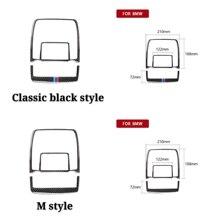 цена на For BMW X5 E70 X6 E71 Carbon Fiber Reading Light Dome Panel Decorative Frame Cover Trim Interior Molding Sticker Car Interior