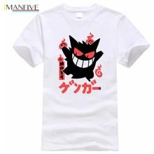 Pokemon Go Tshirt Men Summer Cotton T-shirt For Male Funny Gengar Print Short Sleeve Mens Tops Hipster O-neck T Shirts
