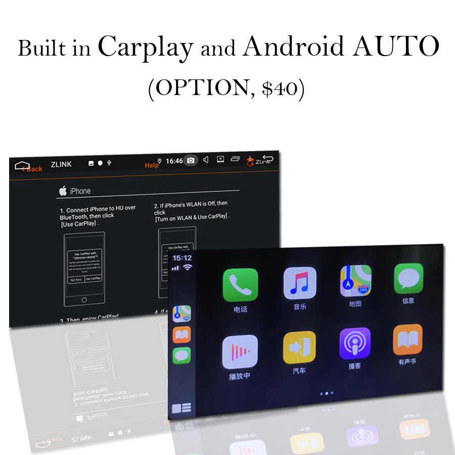 Controle de voz tesla estilo px6 ips 1920*1080 carro dvd player android 8.1 4g + 32g gps rádio wifi bluetooth 5.0 para universal 2 din