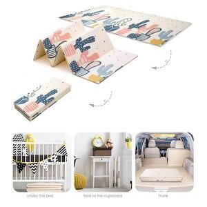 Image 4 - سجادة لعب للأطفال الرضع لامعة XPE سجادة زحف لحماية البيئة سميكة قابلة للطي سجادة أرضية منزلية للأطفال