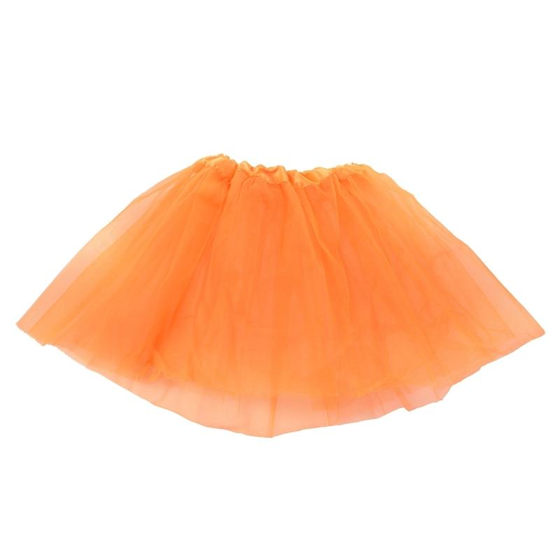 Girls Modern Ballet Dress Fairy Tutu Skirt Orange