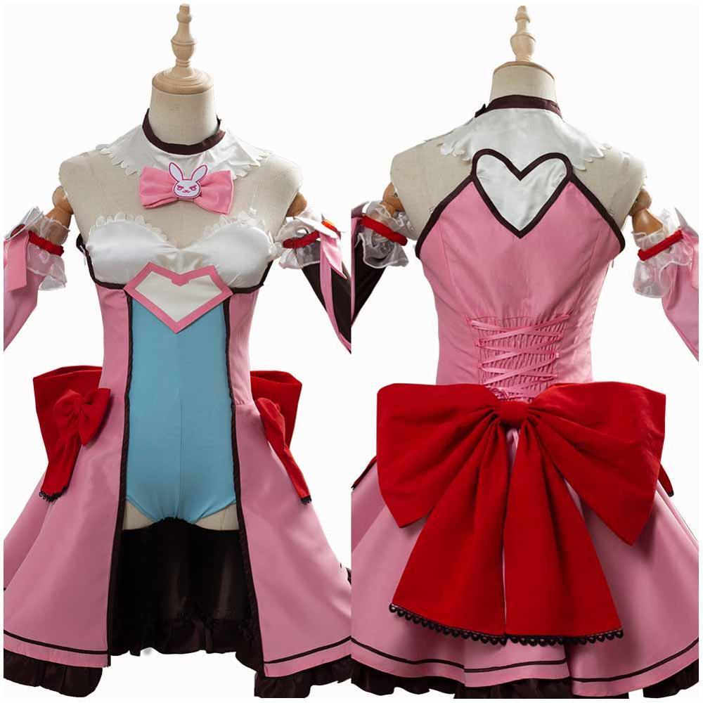 Game OW D.VA Cosplay DVA Hana Song Cosplay Costume Magic Girl Dress Adult Women Girls Halloween Carnival Costumes
