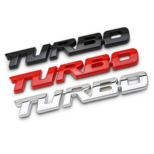 New Car Shape 3D Metal Letter Sticker Turbocharged Logo Badge Decal Car Side Fender Trunk Decoration Accessories