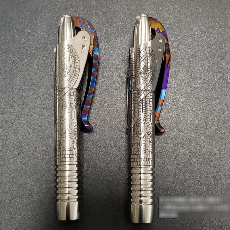 edc liga de titanio com timascus com padrao auto defesa sobrevivencia seguranca caneta tatica com escrita