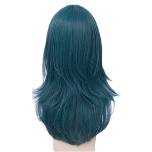 Image 2 - L email wig Fire Emblem Byleth Cosplay Wig Three Houses Byleth Cosplay Wigs Long Blue Straight Heat Resistant Synthetic Hair