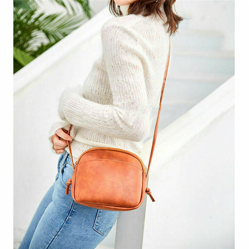 Fashion Pure Color Bags For Women 2020 Luxury Handbags Women Bags PU Leather Ladies Shoulder Crossbody Bags Mini Satchel Zipper