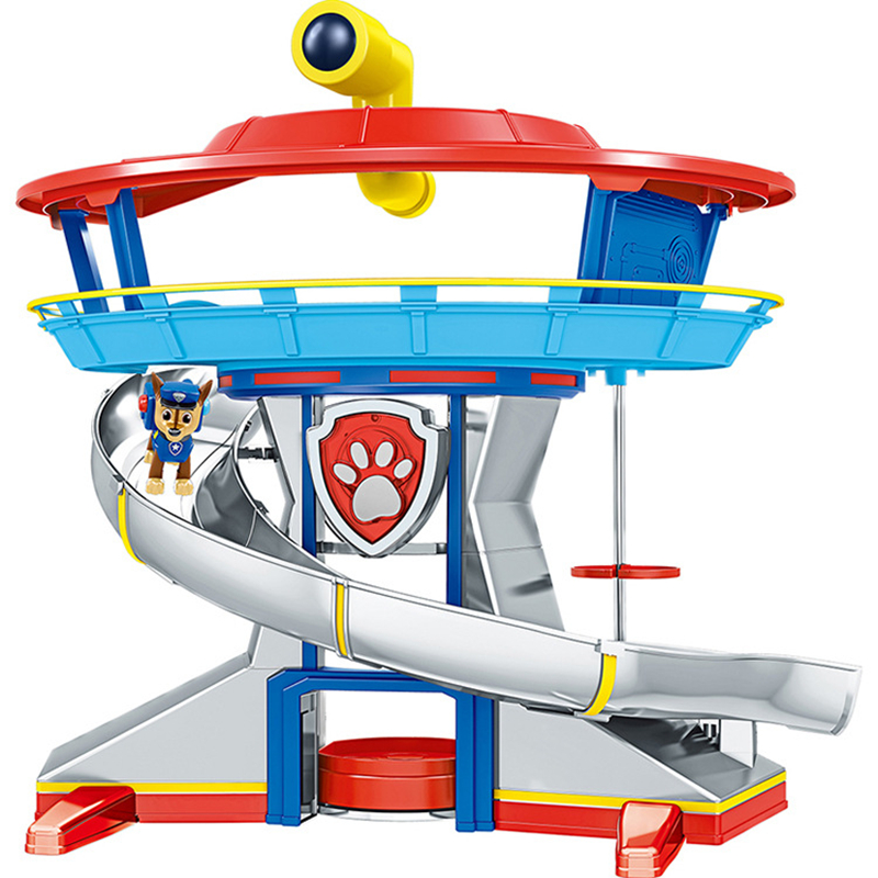 Paw Patrol Dog Toys Rescue Base Command Center Puppy Patrol Set Patrulla Canina Anime Action Figures Model Toy For Children Gift