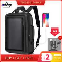 BOPAI лучший профессиональный мужской деловой рюкзак для путешествий, водонепроницаемый тонкий рюкзак для ноутбука, школьная сумка, офисный ...