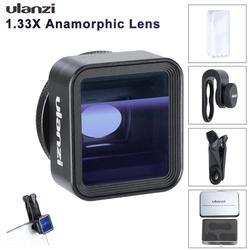 Ulanzi 17mm Universal 1.33X Anamórfico Lente Do Telefone para o iphone Xs Max X Huawei P20 Pro Companheiro Filme Filme de Tiro fazer Lente Do Telefone