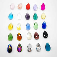 Wholesale Faceted Hole Crystal Glass rhinestones Teardrop loose beads jewelry beads accessories For DIY