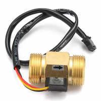 """Flow Sensor G3/4"""" DN20 Copper Hall Effect Liquid Water Flow Sensor Switch Flow Meter"""
