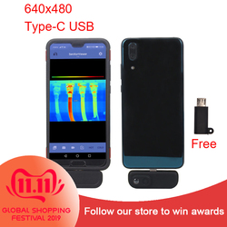 WG201 Thermal Imaging Cameras with Android APP Senxorviewer Thermometer 640 Resolution Thermal Imager Cameras for Cell Phone