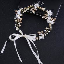 Pearl Floral Crown Bride Hairband Garland Hairband Floral Hair Wedding Garlands