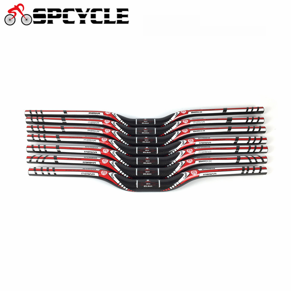 Spcycle Carbon <font><b>Handlebar</b></font> Ultra Light MTB Mountain Bike Carbon Riser Bar Size 31.8 * 580 ~ <font><b>760mm</b></font> Bicycle Parts image