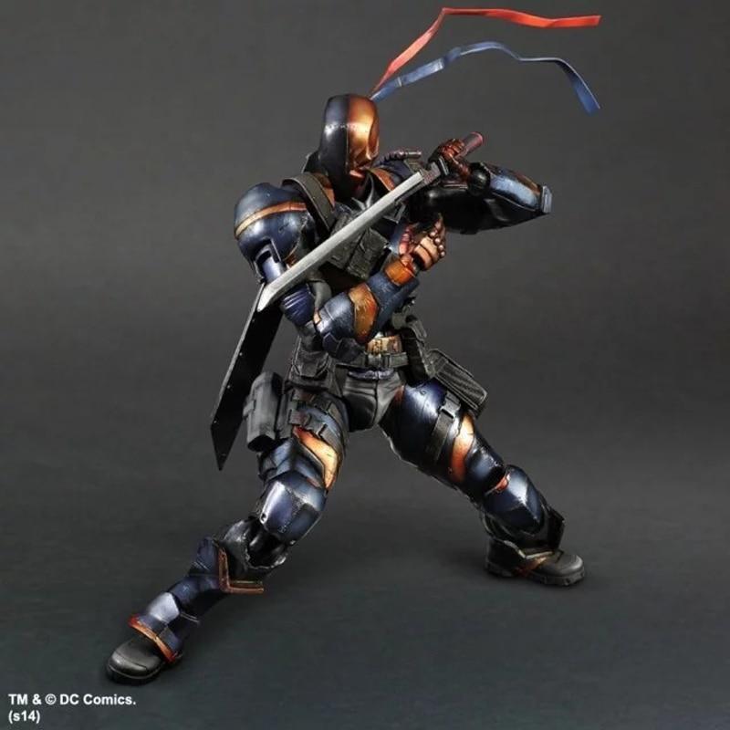 Play Arts Arkham Ursprünge DC Deathstroke Action-figuren Spielzeug 25cm