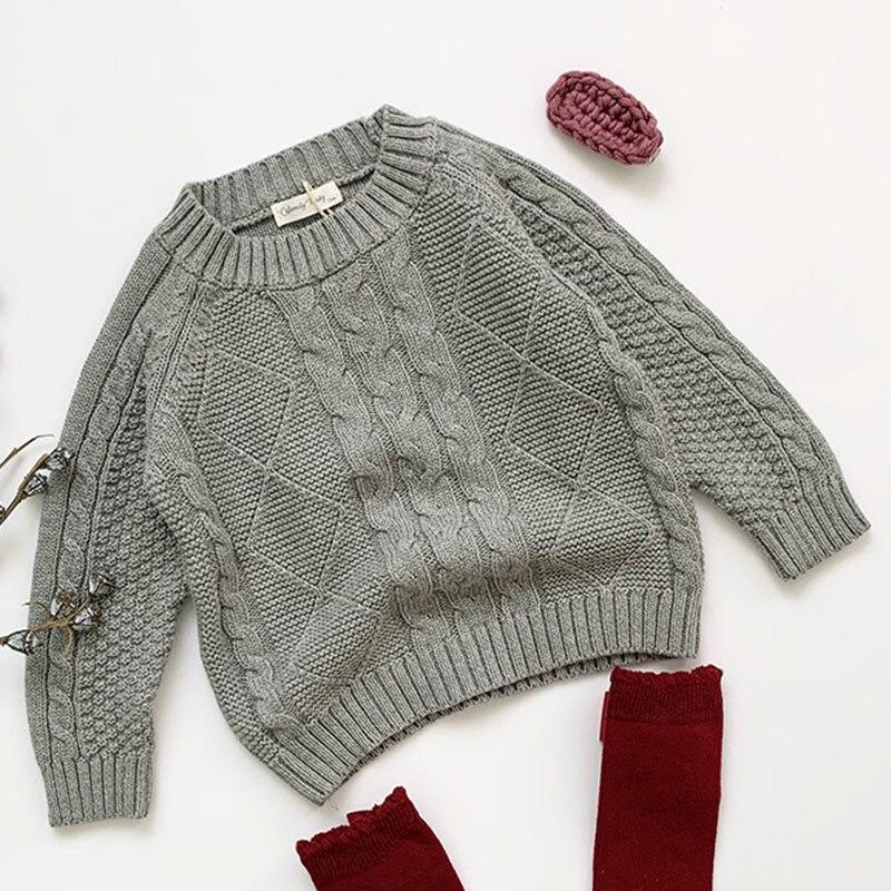 Winter Baby Kids Boys Girls Pullover Sweaters New 2021 Autumn Kids Boys Girls Long Sleeve Knit Hemp Flowers Sweater 4