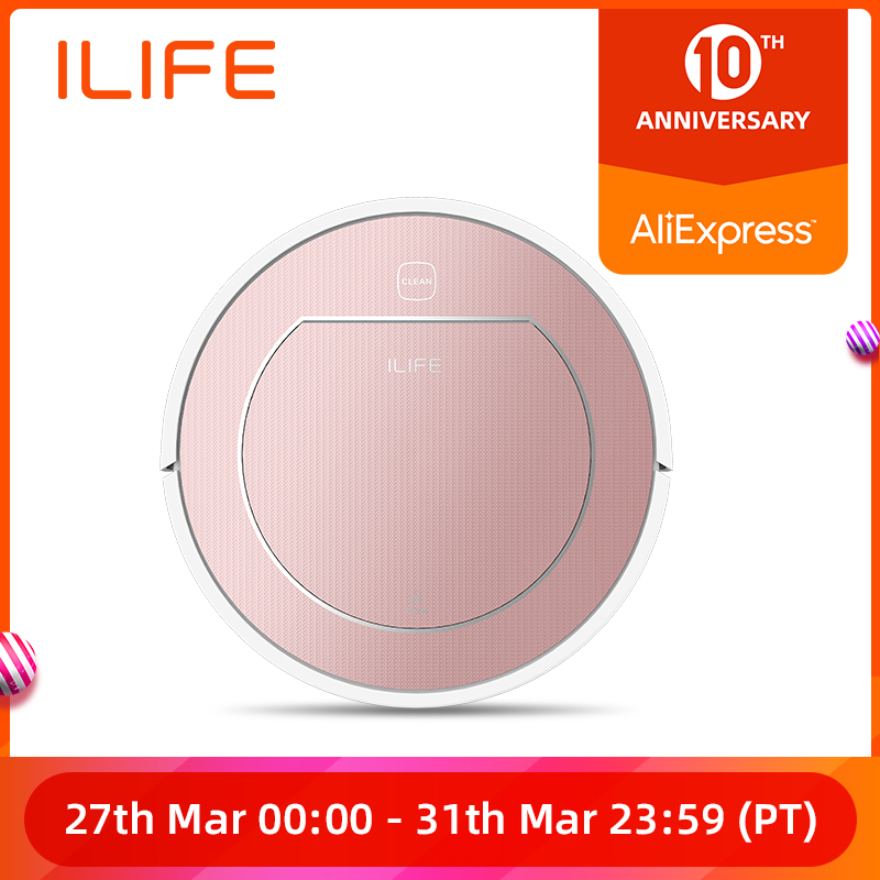 ILIFE V7s Plus Robot Vacuum Cleaner Sweep and Wet Mopping Disinfection For Hard Floors&Carpet Run 120mins Automatically Charge image