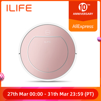 ILIFE V7s Plus Robot Vacuum Cleaner Sweep and Wet Mopping Simultaneously For Hard Floors&Carpet Run 120mins Automatically Charge