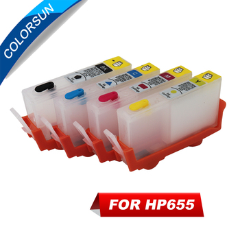 4pcs Refillable Ink Cartridge For HP655 HP 655 for HP Deskjet 3525 4615 4625 5525 6525 cartridge with ARC chips image