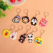 40 Cartoon PVC Soft Key Chain Custom Creative Ring Small Gift Avengers Pikachu Bag Wholesale