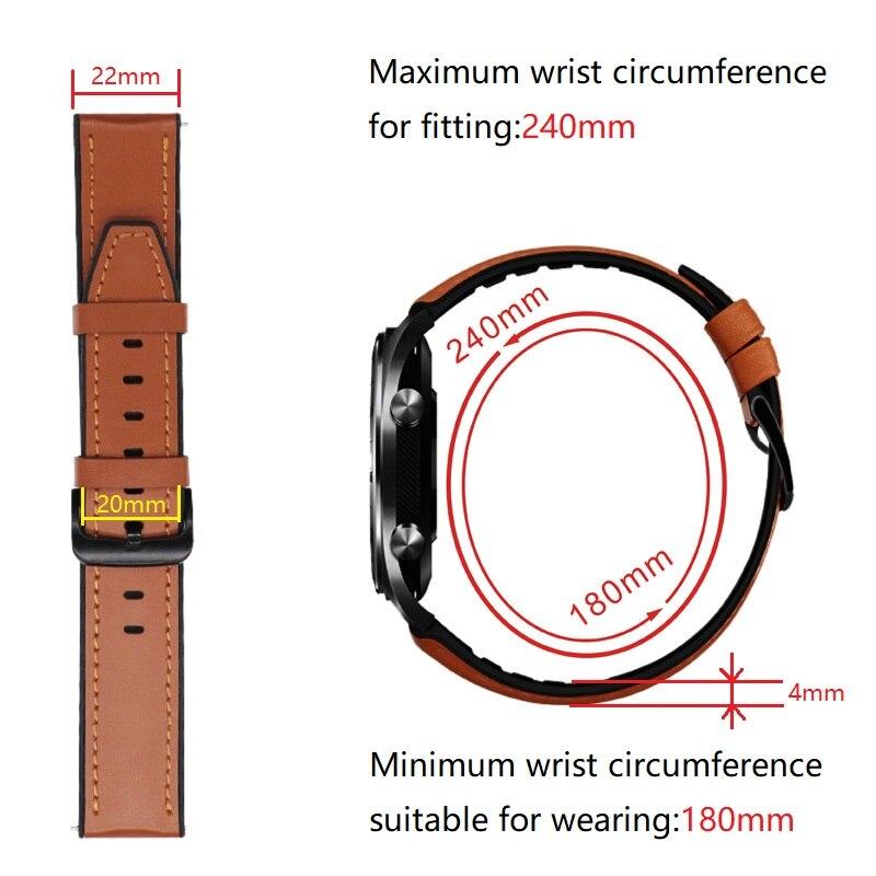 Купить ремешок кожаный для samsung galaxy watch 46 мм сменный браслет