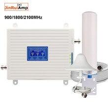 Amplificateur répéteur tri-bande Mobile 2G/3G/4G LTE, 900/1800/2100, pour réseau de téléphonie Mobile, DCS, WCDMA, Booster de Signal