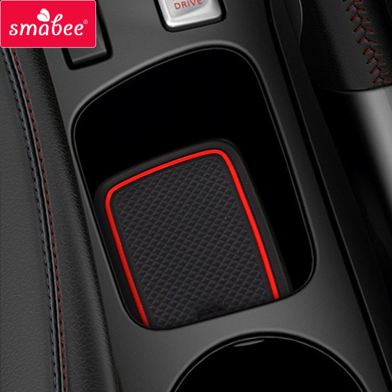 for Renault Clio 4 Anti-Slip Gate Slot Cup Mat Door Groove Non-slip Pad Interior car-styling accessories Coaster