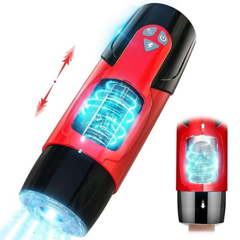 Male Intelligent Masturbator toy Automatic Telescopic and Rotate aircraft cup electric masturbation cup Erotic Sex Toys For Men|Masturbators| - AliExpress