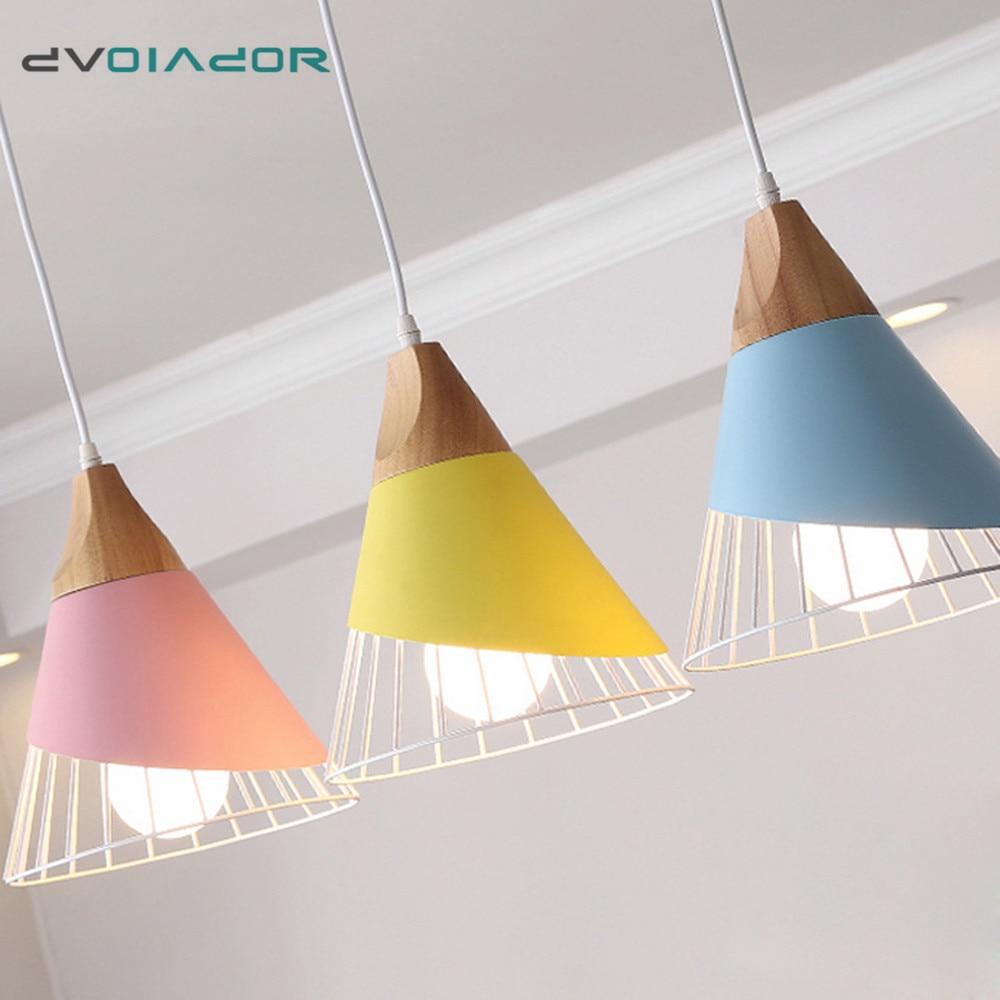 Pendant Lights Nordic Creative Light Fixtures Indoor Bedroom Living Room Restraunt Bar Cafe Colorful Decoration Hanging Light