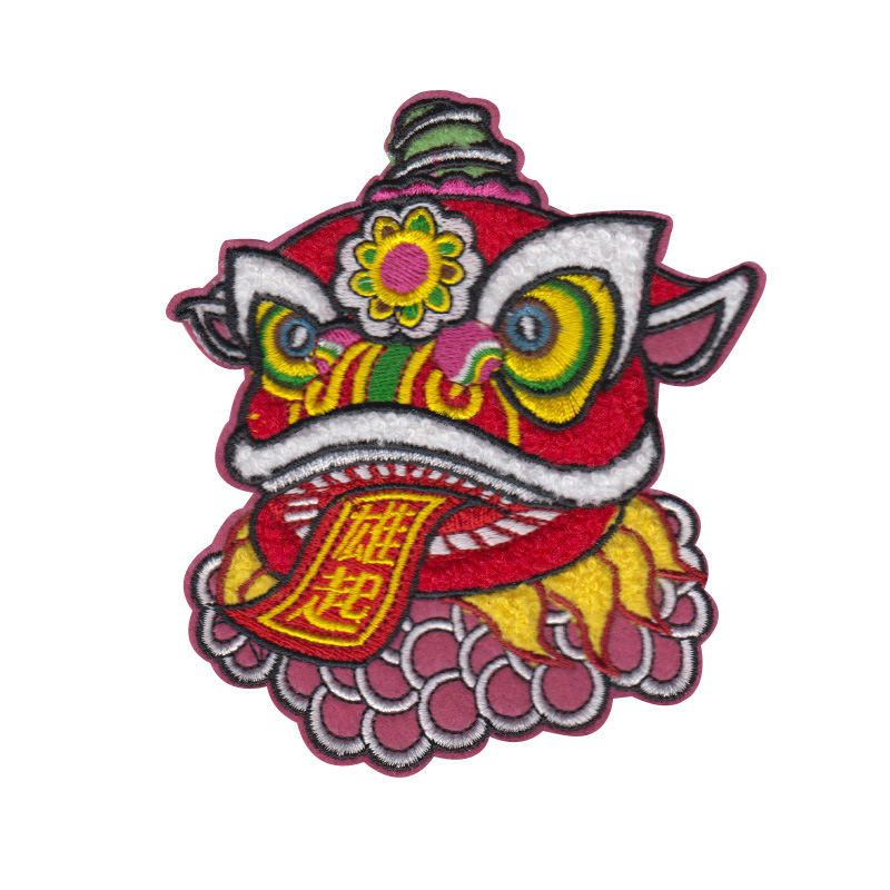 Lion Embroidery Cloth Patch Mao Jinxiu Embroidery Chapter Accessories Patch Embroidery