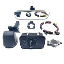 Auto headlight switch+Rain Light Wiper Sensor Anti-glare Dimming Rear View Mirror For passat B8 2017+