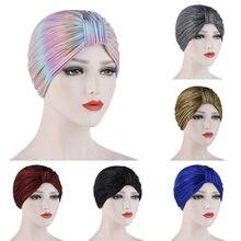 Chapéu de turbante chapéu de turbante de cor sólida para mulheres de design simples