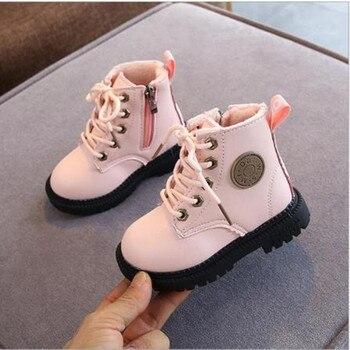 Autumn / winter 2020 new children's Plush boots boys and girls British warm Martin baby soft bottom short - discount item  25% OFF Children's Shoes