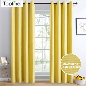 Topfinel Solid Blackout Curtains For Bedroom Living Room Window Treatment Blinds Decoration Modern Thicken Finished Drapes modern blackout curtains for living room bedroom yellow curtains for window curtains drapes treatment finished blinds custom