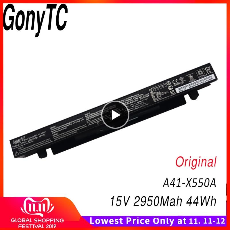 GONYTC 15V 44Wh 2950mAh Original A41-X550a Battery For Asus A41-X550 X550C A450 A450C A450L A450LB Li-ion Laptop Battery