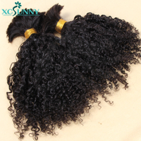 Afro Kinky Curly Bulk Hair Human Hair For Braids No Weft Remy Brazilian Human Braiding Hair Bulk Extensions Bundles xcsunny