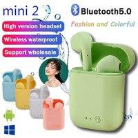 Auriculares eaphones inalámbricos Mini-2 3D, estéreo de graves, a prueba de agua, deportivos, Bluetooth, para todos los teléfonos, 2021