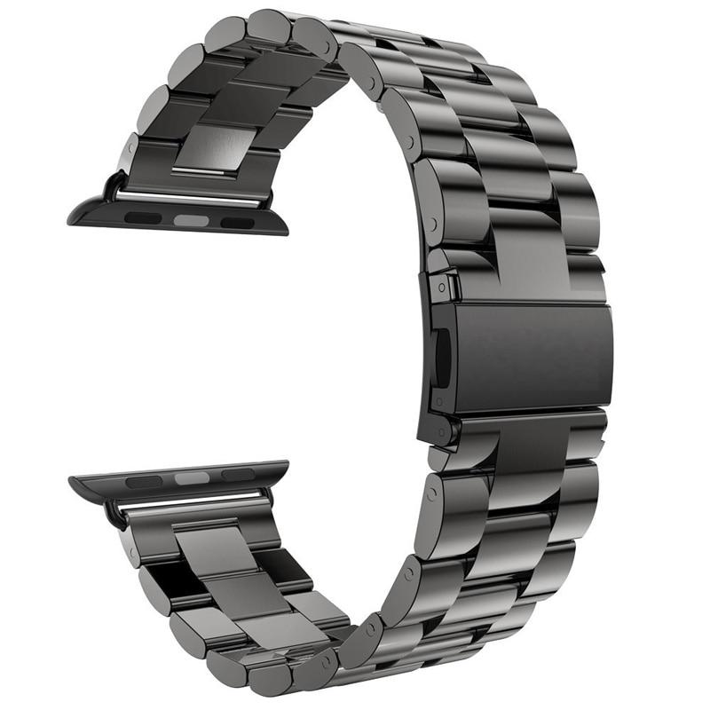Za Apple Watch Series 5 4 3 2 trak 42 mm 40 mm 44 mm črni adapter za - Dodatki za ure - Fotografija 5