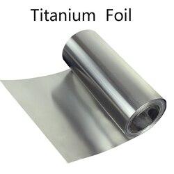 Титановая полоса 0,1-0,5 мм Ti фольга тонкий лист промышленности DIY материал коррозионная стойкость медицинский Титан Аэрокосмическая обработ...