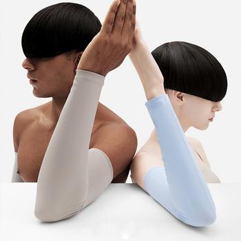 Rękaw kolarski na rękę dla mężczyzn szybkie suche kobiety biegające ocieplacze na ręce ochrona UV Sport rękaw wędkarski rękaw Fitness koszykówka rękaw tanie i dobre opinie about 39 cm arm warmer spandex women China good