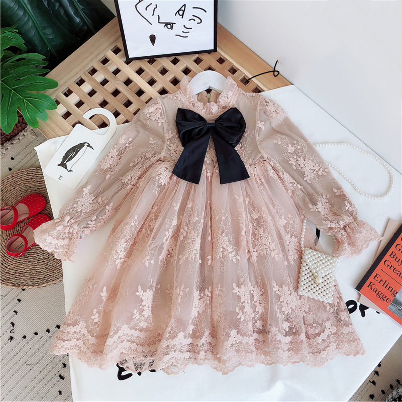 Girls Dress Princess Party Dress Children's Elegant Lace Long Sleeves Dresses Baby Clothes Casual 3 8 Yrs Kids Dresses for Girls 1