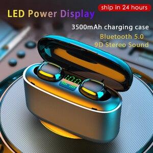Image 3 - 3500mah LED Bluetooth אלחוטי אוזניות אוזניות TWS מגע בקרת אוזניות ספורט אוזניות רעש לבטל עמיד למים אוזניות