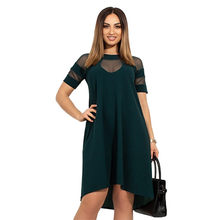 5XL 6XL 2019 New Women Summer Dress Plus Size Casual Sexy Mesh Dress Big Large Size Female Elegant Party Vestidos Women Clothing(China)