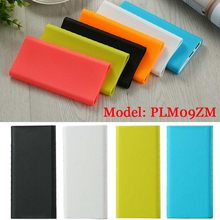 Nieuwe Silicone Protector Case Cover Voor Xiaomi Power Bank 2 10000 mAh Dual Usb-poort Skin Shell Mouwen Voor Power bank Model PLM09ZM(China)
