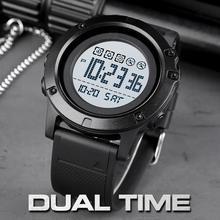 SKMEI 10 lat baterii zegarek męski 50M wodoodporny Alarm Sport LED cyfrowy 12/24 godzin zegar mężczyzna zegarek relogio masculino 1727